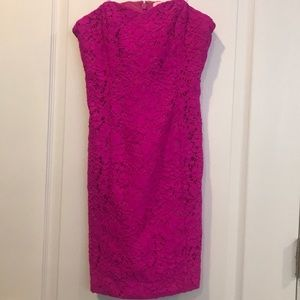 Lilly Pulitzer magenta lace dress size 00